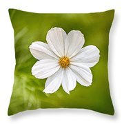 Bohemian Garden White Throw Pillow