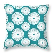 Boho Floral Blue And White Throw Pillow
