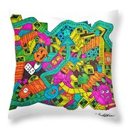 Boing Throw Pillow by Chelsea Geldean