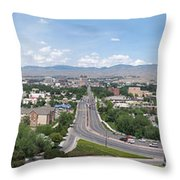 Boise From Boise Depot Tower Throw Pillow