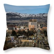 Boise Idaho Throw Pillow by Robert Bales