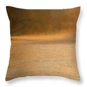 Boise River Sunrise Throw Pillow