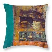 Book Cover Encaustic Throw Pillow