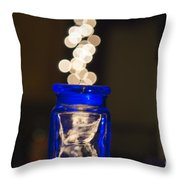 Bokeh Jar Throw Pillow