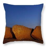 Bold Boulders Throw Pillow