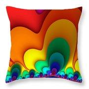 Bold Colors Fractal Throw Pillow