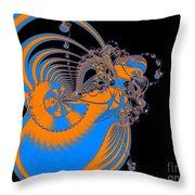 Bold Energy Abstract Digital Art Prints Throw Pillow