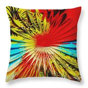 Bold Floral Hat Abstract Throw Pillow