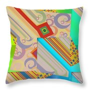 Bold Geometric Abstract  Throw Pillow