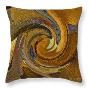 Bold Golden Abstract Throw Pillow