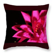 Bold Lily Throw Pillow