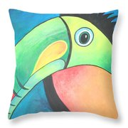 Bold Toucan Throw Pillow