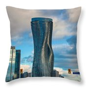 Bold Towers Throw Pillow