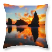 Boldly Bandon Throw Pillow by Darren  White