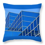 Boldly Blue Throw Pillow