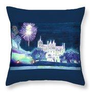 Boldt Castle Fireworks Throw Pillow
