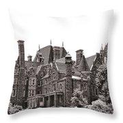 Boldt Castle Throw Pillow