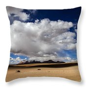Bolivia Cloud Valley Throw Pillow