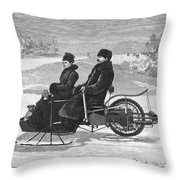 Bollee Carriage, 1898 Throw Pillow