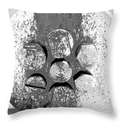 Bolted Silver Throw Pillow