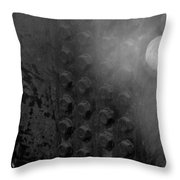 Bolts On The Trident In Black And White Throw Pillow