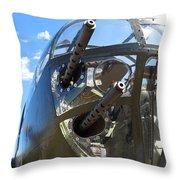 Bomber's Cockpit Throw Pillow