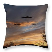 Bombers Pass By  Throw Pillow