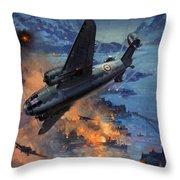 Bombing Scene Artist C E Turner  Throw Pillow