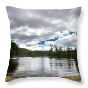 Bon Echo Lagoon Panorama Throw Pillow by Cale Best