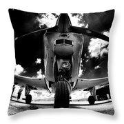 Bonanza In Black And White Throw Pillow