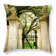 Bonaventure Cemetery Gate Savannah Ga Throw Pillow