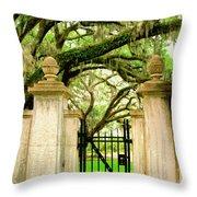 Bonaventure Gate Savannah Ga Throw Pillow