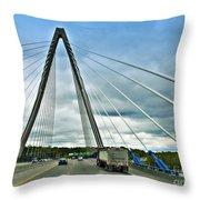 Bond Bridge In Kansas City Throw Pillow