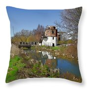 Bonds Mill Area Stroudwater Canal Throw Pillow