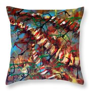Bones And Combs Throw Pillow