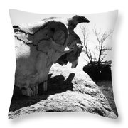 Bones And Pocket Change  Throw Pillow