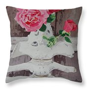 Bones And Roses Throw Pillow