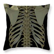 Bones Of The Back Throw Pillow