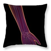 Bones Of The Lower Arm Throw Pillow