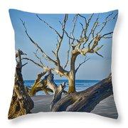 Boneyard Beach 3 Throw Pillow