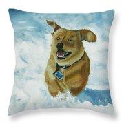 Bongo In The Snow Throw Pillow