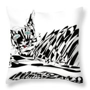 Bonifacy Cat Throw Pillow
