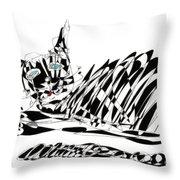 Bonifacy Cat Throw Pillow