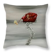 Boning The Couch Throw Pillow