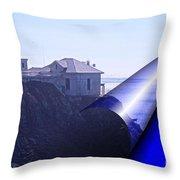 Bonita Lighthouse Landscape Throw Pillow