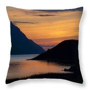 Bonne Bay Sunset Throw Pillow