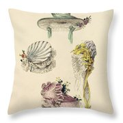 Bonnets For An Occasion, Fashion Plate Throw Pillow