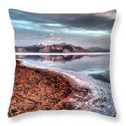 Bonneville Salt Flats Throw Pillow