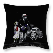 Bonnie And Clyde Poster 1967 Death Valley California 1968-2009 Throw Pillow