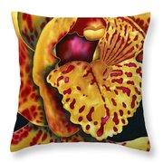 Bonnie Orchid II Throw Pillow by Daniel Jean-Baptiste